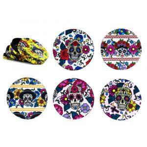 Grinder metal colorfull mexican skulls – 4 partes / 50mm